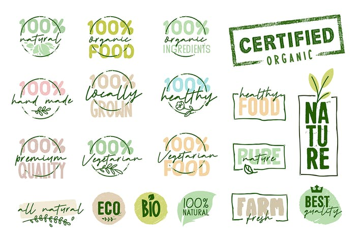 Thumbnail for Organic Food Signs Collection