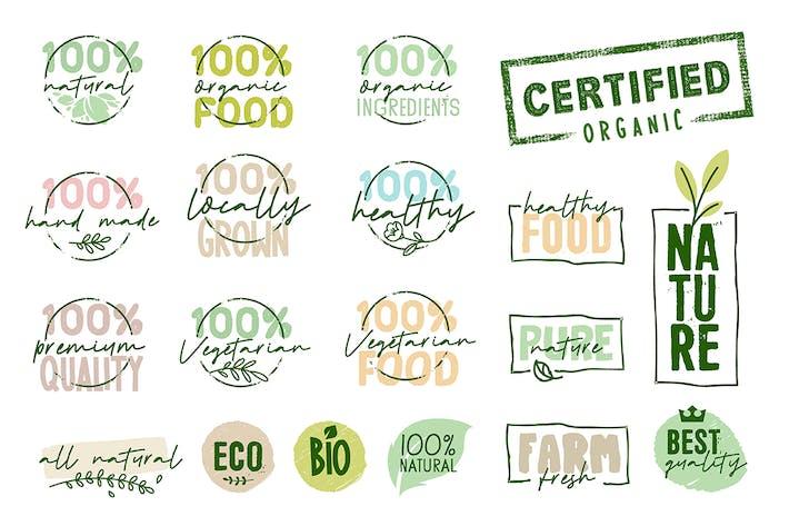 Thumbnail for Organic Food Signs Sammlung