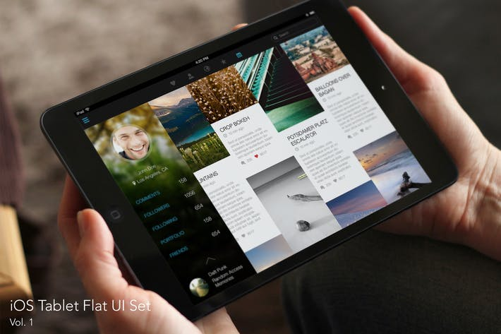 Thumbnail for iOS Tablet Flat UI Set Vol. 1