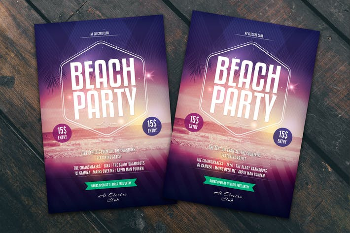 Thumbnail for Beach Party Flyer Poster