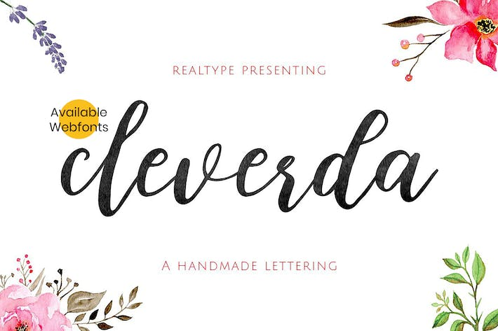 Thumbnail for Cleverda Script + WebFonts