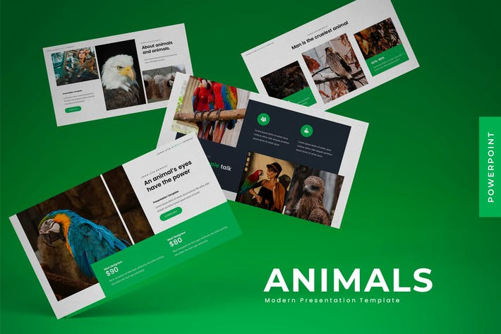 Thumbnail for Beautiful Animals  - Powerpoint Template