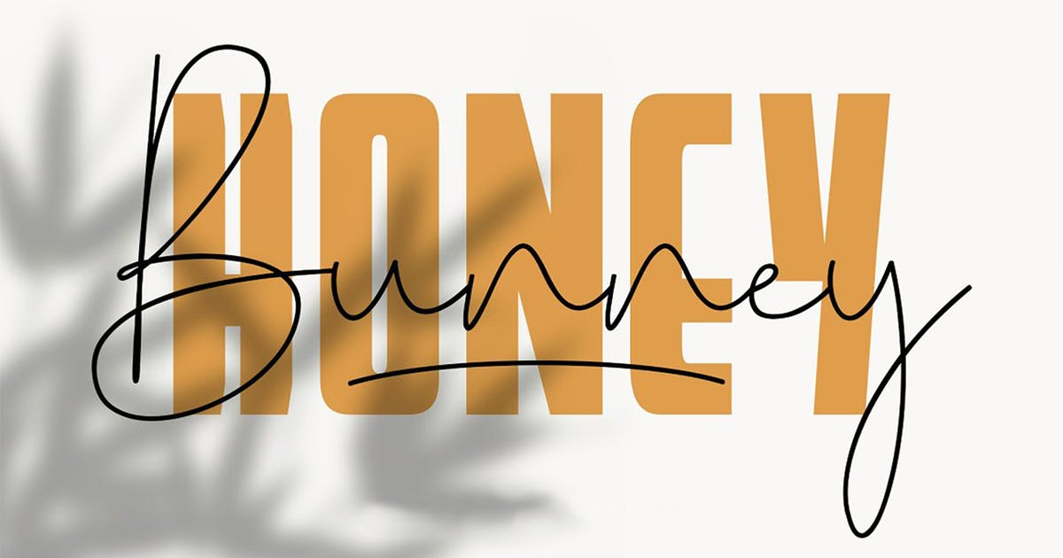 Download Honey bunny font duo by Yanstd