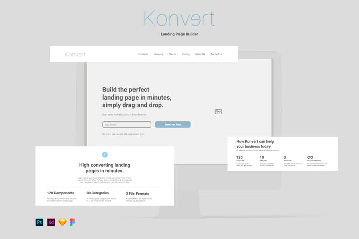 Thumbnail for Konvert Landing Page Builder