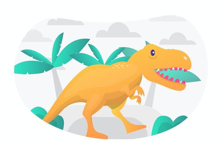 Tyrannosaurus Flat Illustration