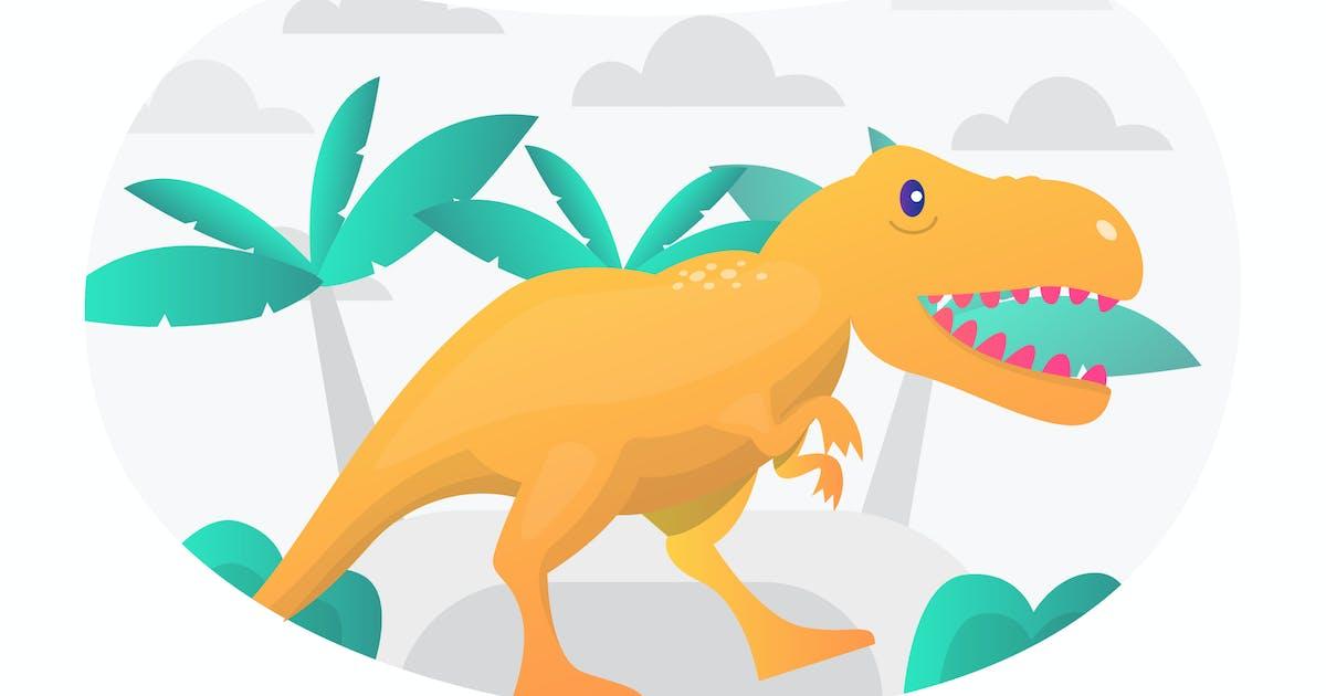 Download Tyrannosaurus Flat Illustration by StringLabs