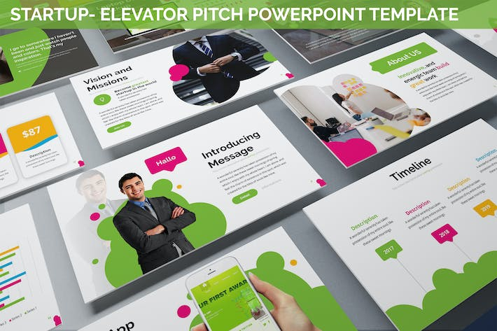 Thumbnail for Startup - Elevator Pitch Powerpoint Template