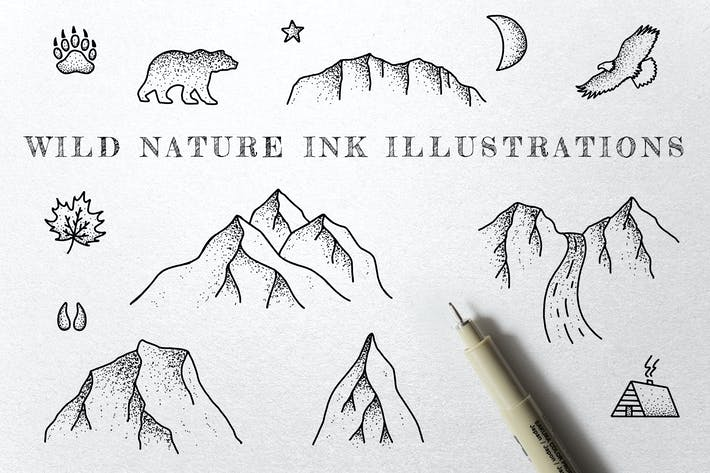 Thumbnail for Wild Nature - Ink Illustrations