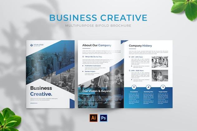 Business Creative Bifold Brochure