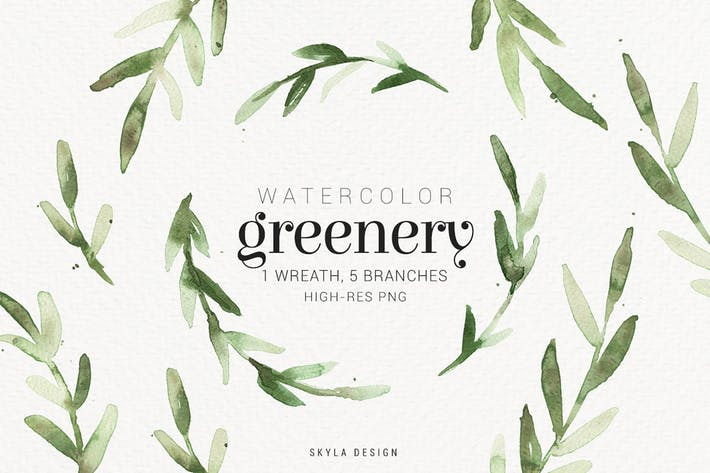 Thumbnail for Watercolor greenery