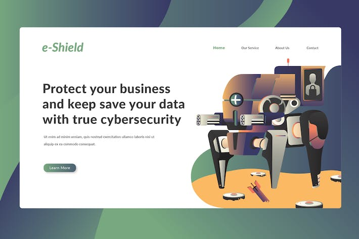 Cover Image For Cybersecurity - Landing Page