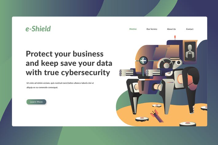 Thumbnail for Cybersecurity - Landing Page