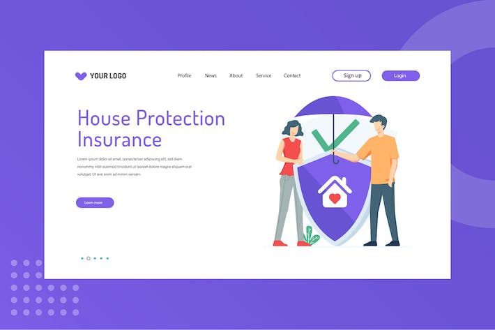 House protection Landing Page Template