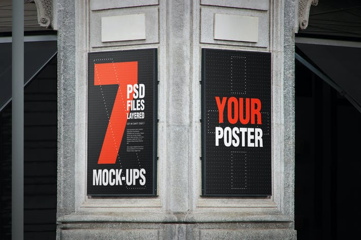 Thumbnail for Urban Poster Billboard Mock-up