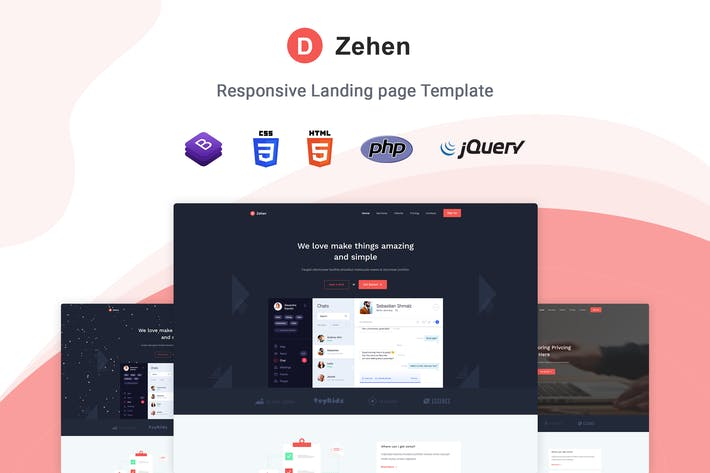 Thumbnail for Zehen - Landing Page Template