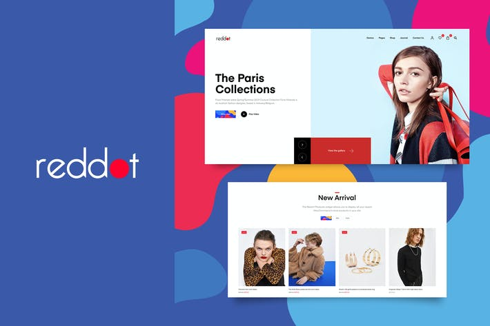 Thumbnail for Reddot - Ecommerce PSD template