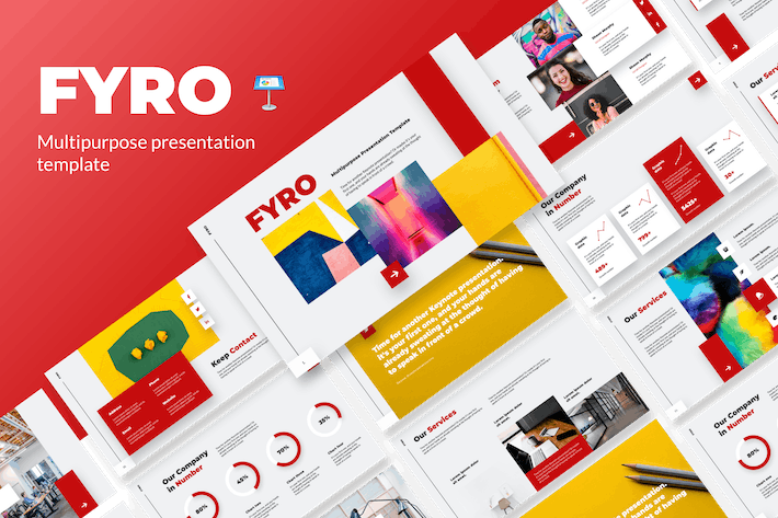 Cover Image For Fyro - Business Keynote Template