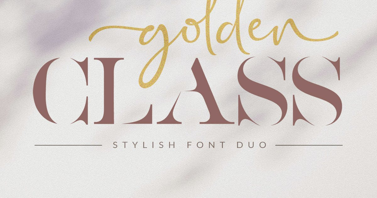 Download Golden Class - Font Duo by Subectype