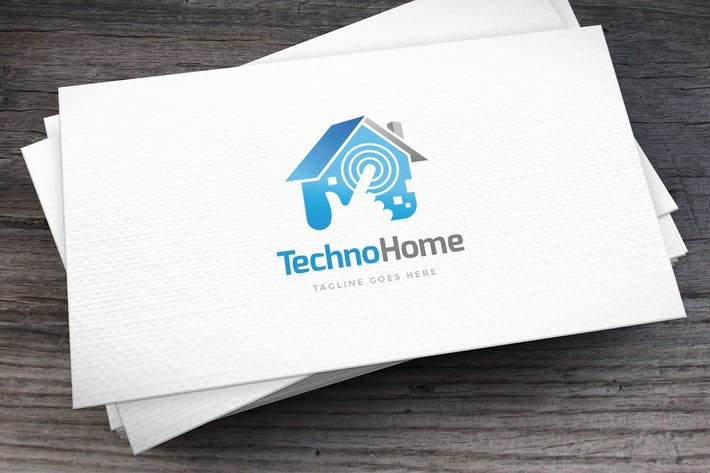 Thumbnail for Techno Home Logo Template