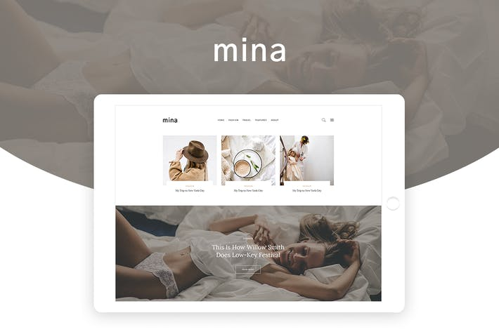 Thumbnail for Mina - Personal Blog PSD Template