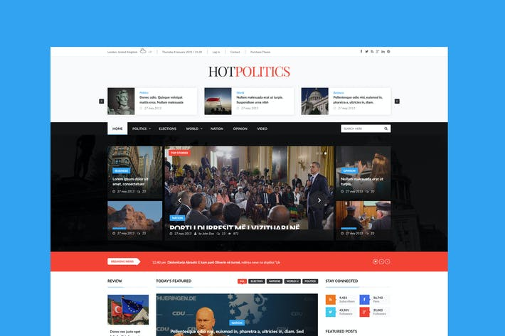 Thumbnail for Hotmagazine - News & Magazine HTML Template