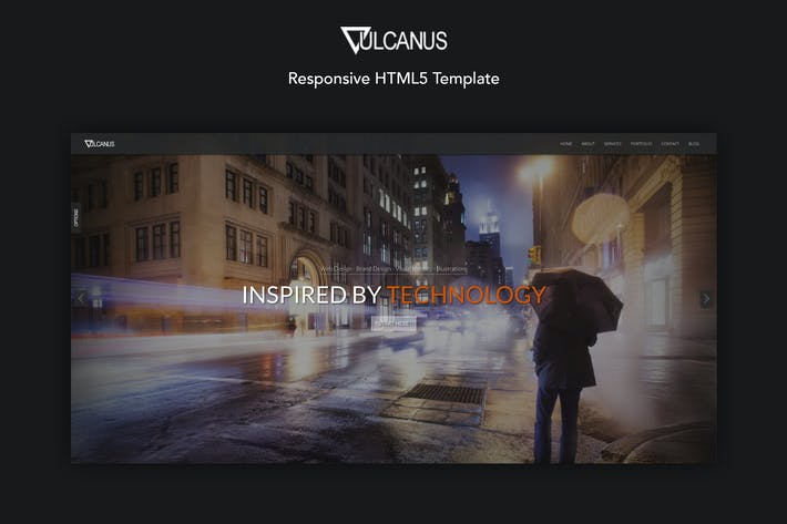 Thumbnail for Vulcanus - Responsive HTML5 Template