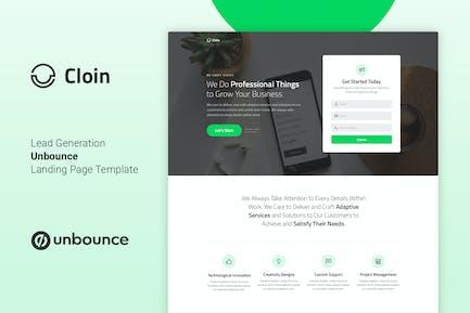 Cloin - Plantilla de página de inicio de Unbounce empresarial