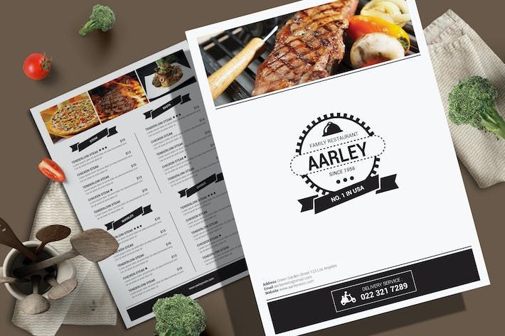 Thumbnail for Simple Food Menu Flyer