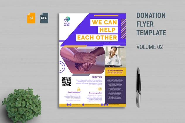 Donation Flyer Template Vol. 02