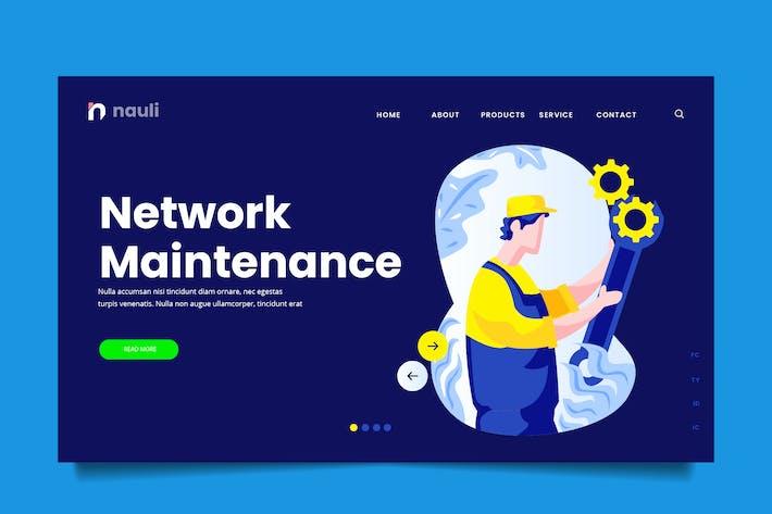 Thumbnail for Network Maintenance Web Header PSD and AI Vector