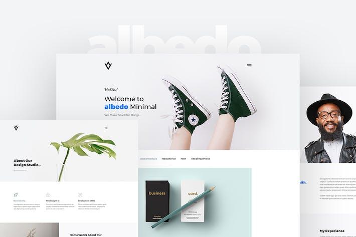 Thumbnail for Albedo – Minimal Portfolio PSD Template