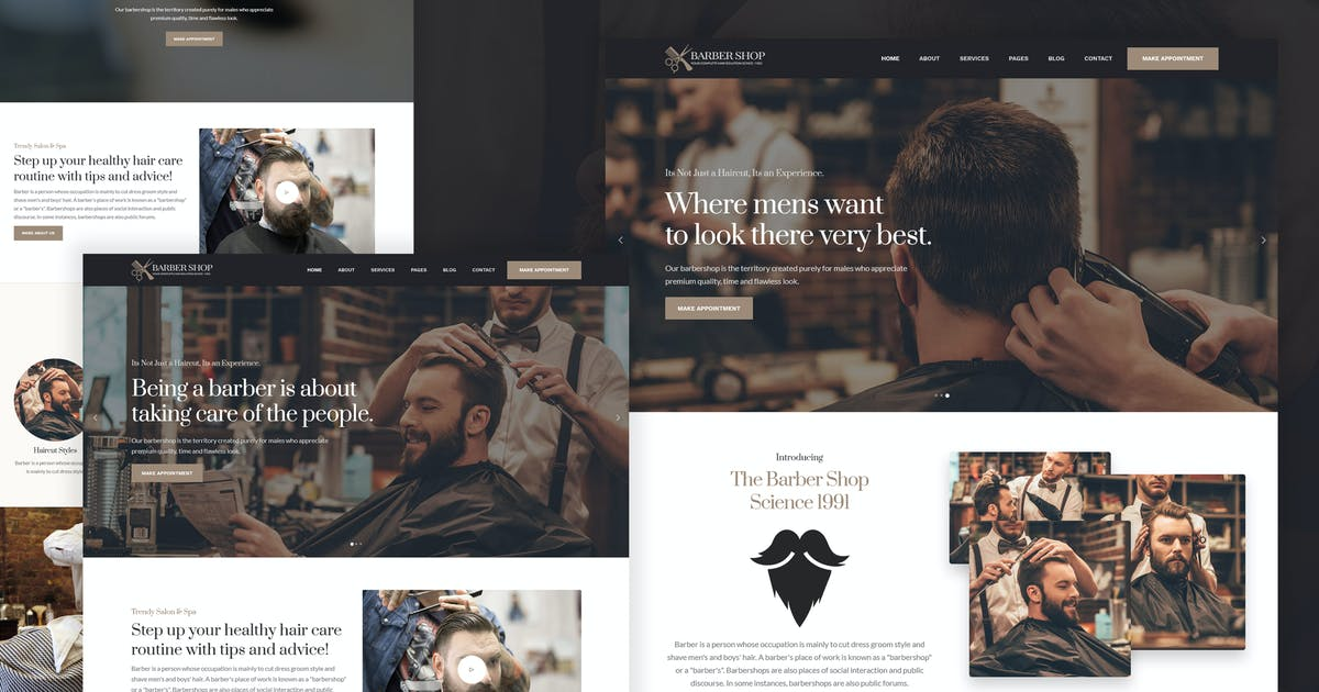 Download BarberShop & Hair Salon HTML Template by DynamicLayers