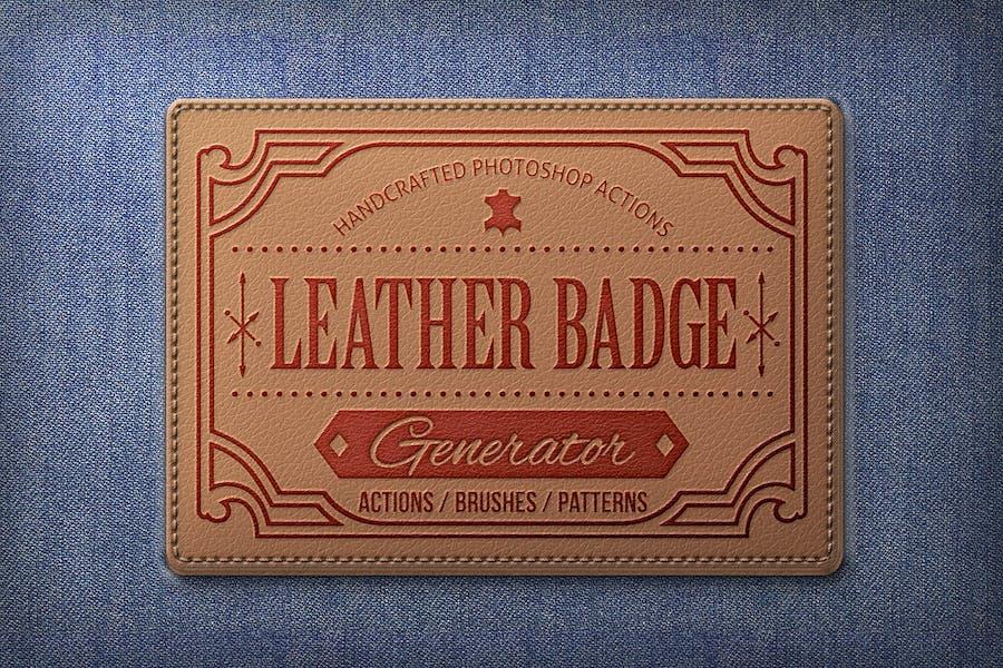 Leather Badge Generator - Photoshop Actions