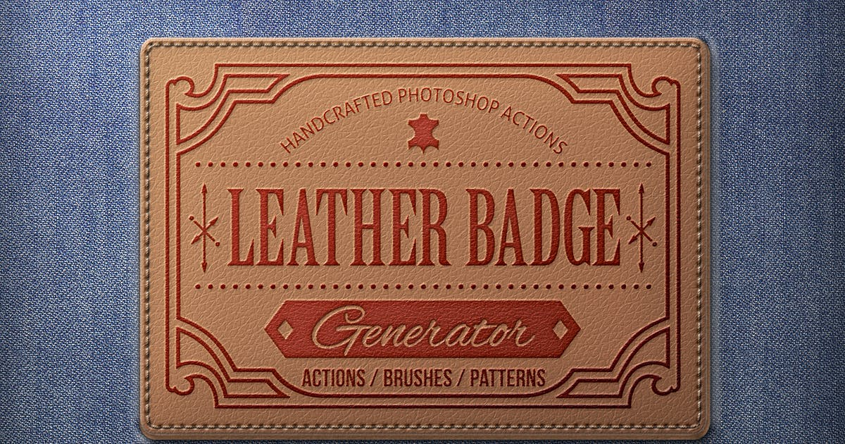 Download Leather Badge Generator - Photoshop Actions by BlackNull