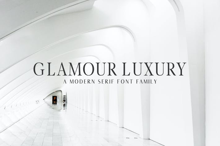 Thumbnail for Glamour Luxury Serif Font Family