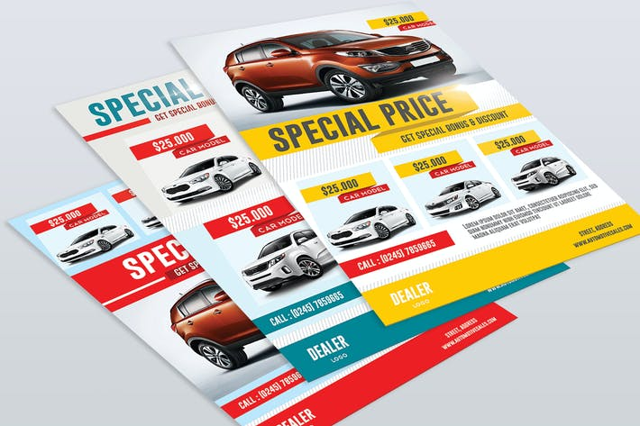 car sale flyer by aarleykaiven on envato elements