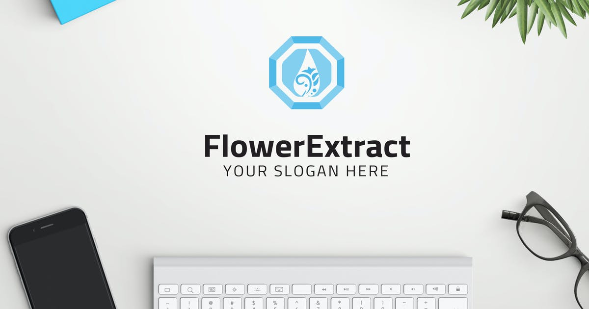 Download FlowerExtract professional logo by ovozdigital