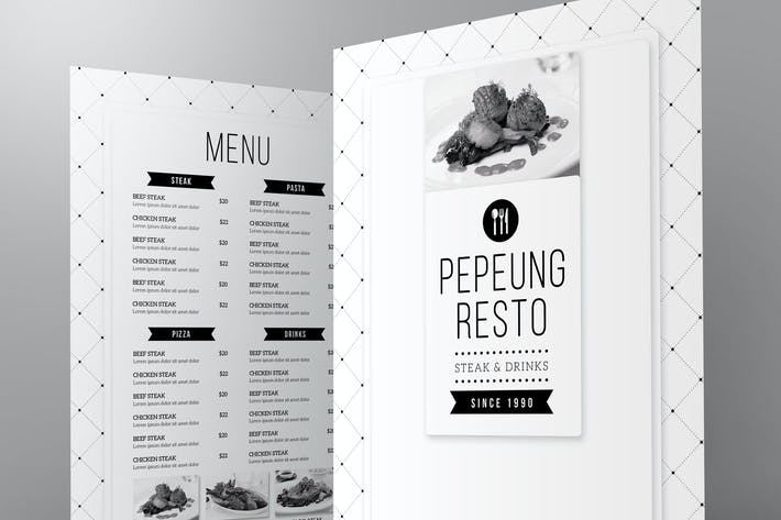 Thumbnail for Minimalist Menu + Table Tent
