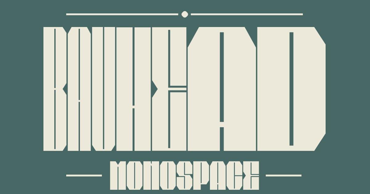 Download Bauhead Typeface|Bauhaus Design Font by Mihis_Design