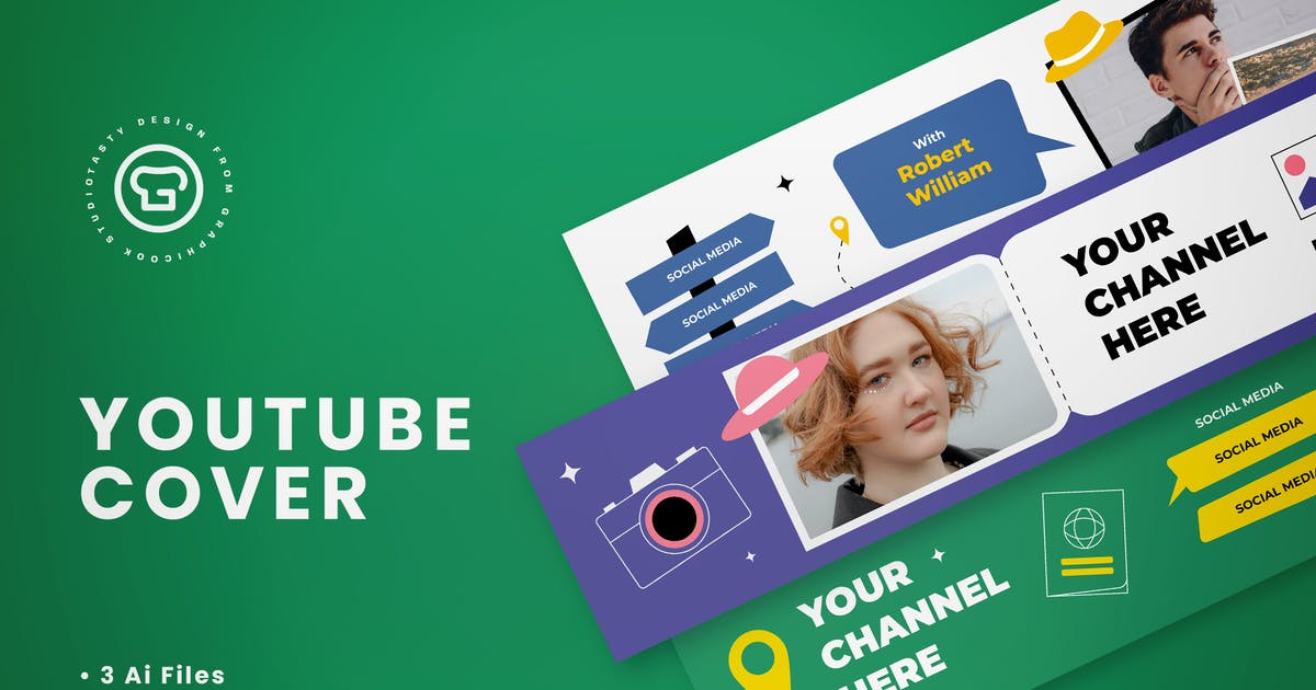 Download Youtube Cover Travel Vlogger by graphicook