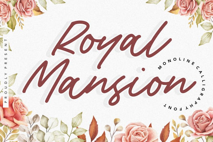 Thumbnail for Royal Mansion YH - Monoline Calligraphy Font