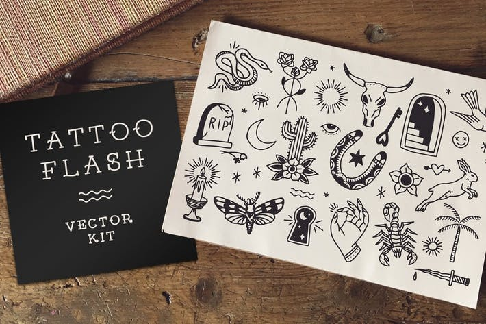 Thumbnail for Americana Tattoo Flash Clip Art