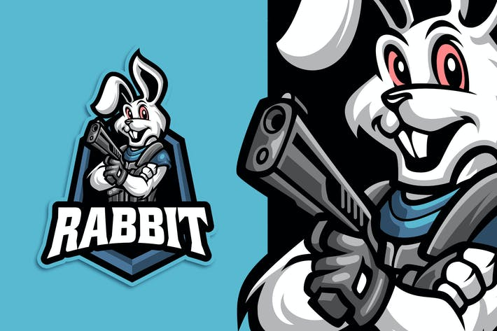 Thumbnail for Rabbit Esport and Sport Logo Template