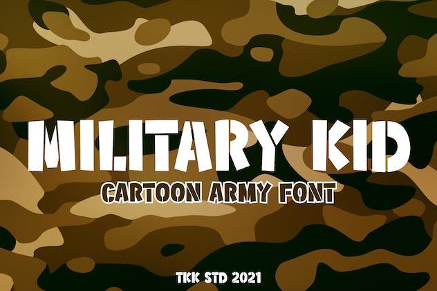 Military Kid - Stencil Army Kids Font