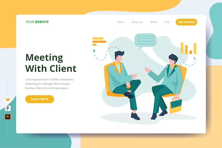 Thumbnail for Meeting With Client - Landing Page