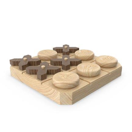 Juego de Tic Tac Toe de De madera