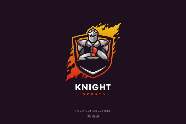 Thumbnail for Knight Sports and E-sports Style Logo