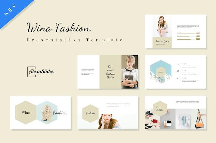 Thumbnail for Wina - Fashion Keynote Presentation Template