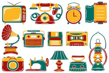 Vintage Retro Objects