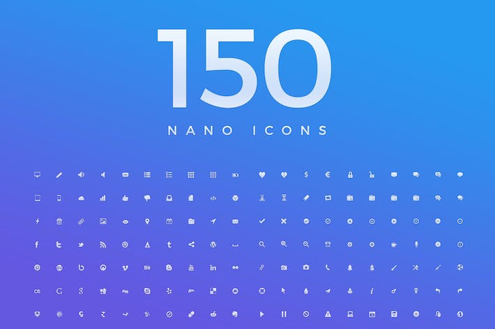 Thumbnail for 150 Nano Vector Icons 3